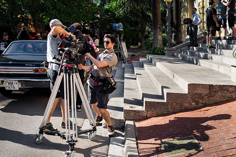 Filming in Terrassa