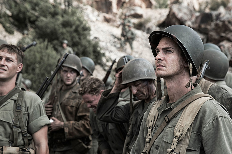 Scene from Hacksaw Ridge by Mel Gibson